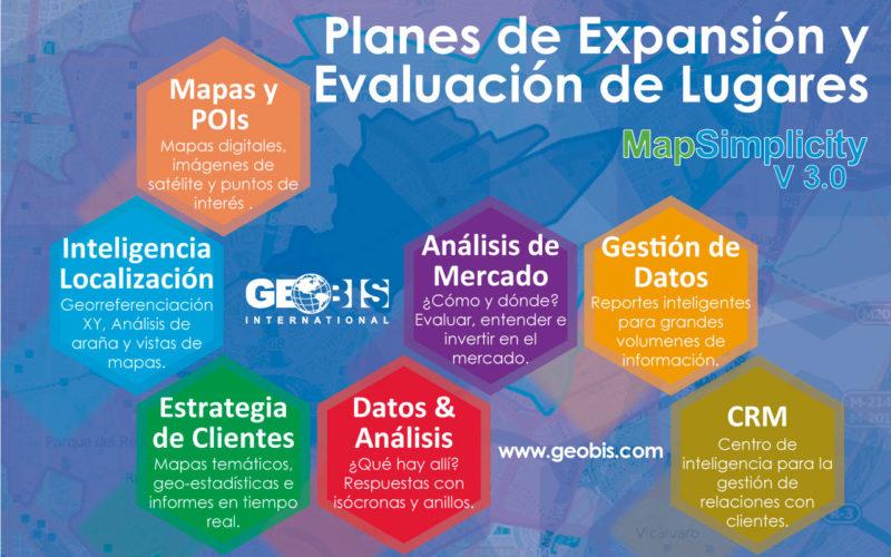 Planes de Expansión y Evaluación de Lugares con MapSimplicity 3.0 de Geobis International