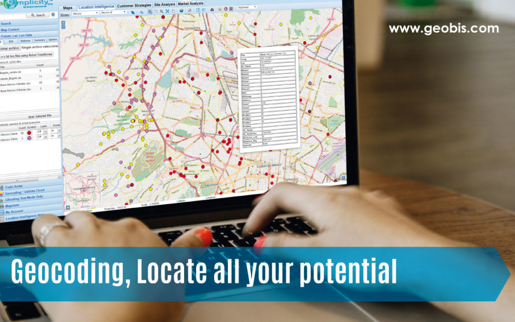 Geocoding, Locate all your potential